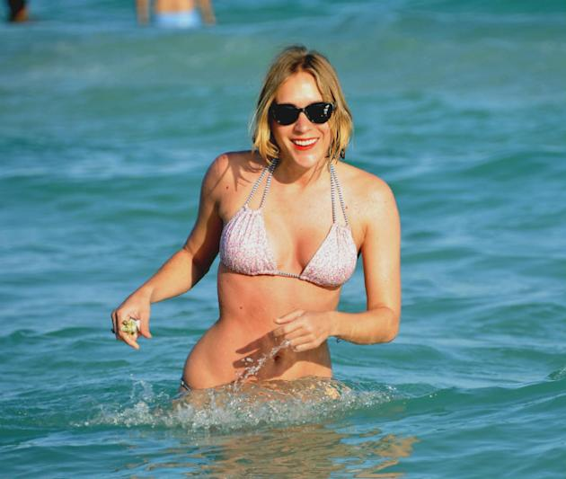 Celebrities hit the beach