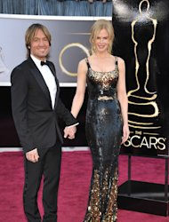 Musician Keith Urban, left, and actress Nicole Kidman arrive at the Oscars at the Dolby Theatre on Sunday Feb. 24, 2013, in Los Angeles. (Photo by John Shearer/Invision/AP)