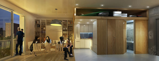 The architects' rendering of their design. Click the image to see more pictures.