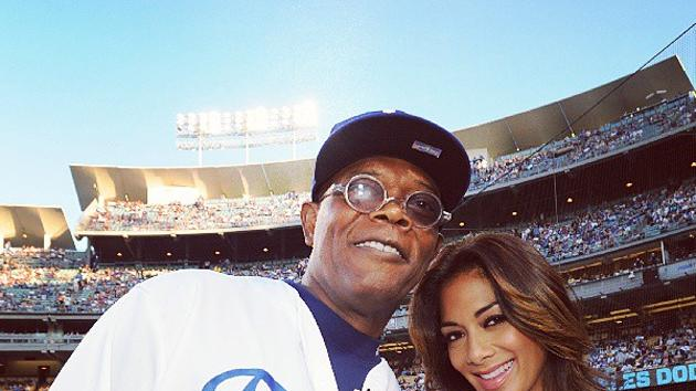 Celebrity Twitpics: Nicole Scherzinger befriends Samuel L Jackson at a baseball game this week. Copyright [Instagram]