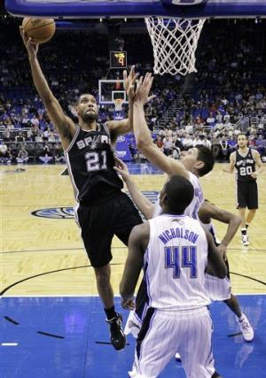 Spurs get 20 from Ginobili, run past Magic, 110-89
