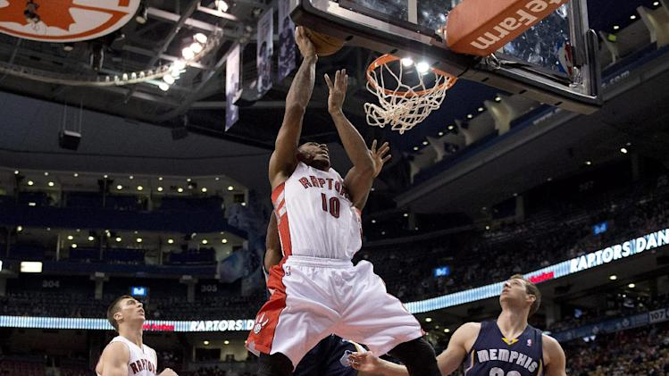 Raptors rout Grizzlies in preseason