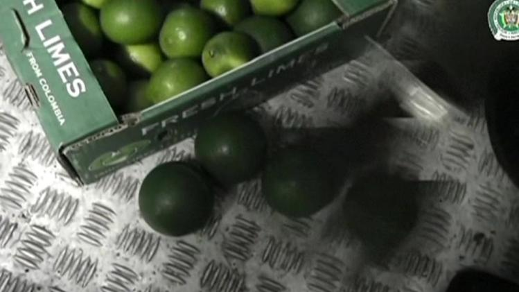 Colombian officials uncover cocaine shipment hidden in fake limes