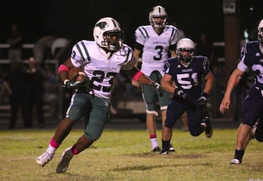 Michael Humphrey, number 3, always towers over teammates and opponents — Sunnyslope Football