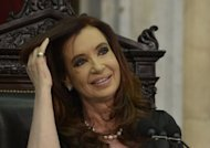 "Argentine President Cristina Fernandez de Kirchner at the Congress in Buenos Aires on March 1, 2013. A US appeals court in New York has told Argentina to spell out its offer to settle a suit by holders of defaulted bonds that Buenos Aires brands ""vultures,"" court documents showed Friday"