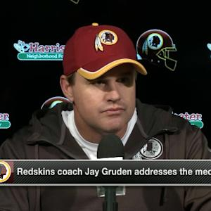 Washington Redskins head coach Jay Gruden on RGIII critique: 'It was a mistake on my part'
