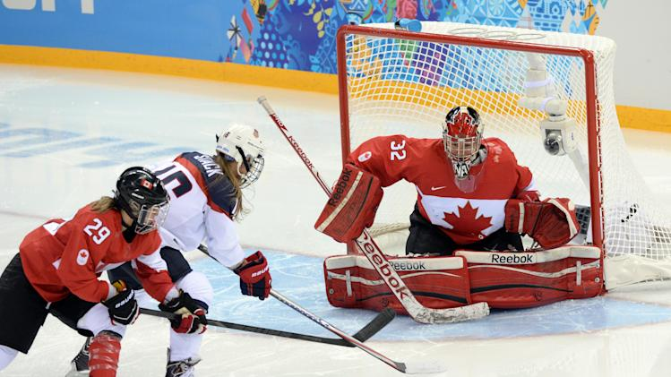 Olympics: Ice Hockey-Women's Prelim Round-USA vs CAN