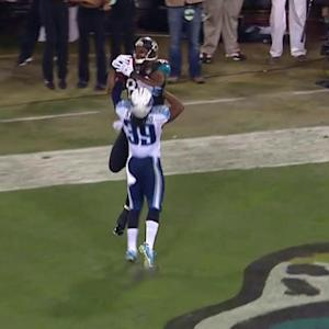 Jacksonville Jaguars quarterback Blake Bortles finds Marcedes Lewis for a 4-yard touchdown