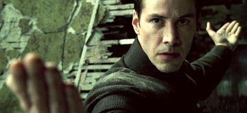 Keanu Reeves as Neo in Warner Brothers' The Matrix: Revolutions