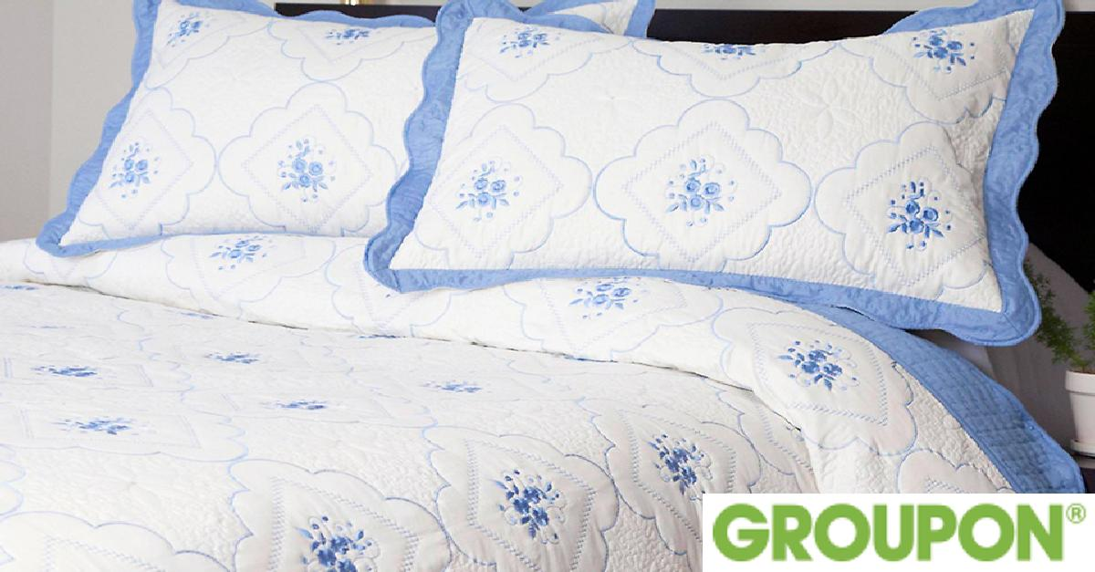 Embroidered Quilt Set for $29.99