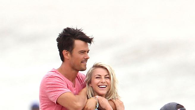 Spotted on set Josh Duhamel Julianne Hough