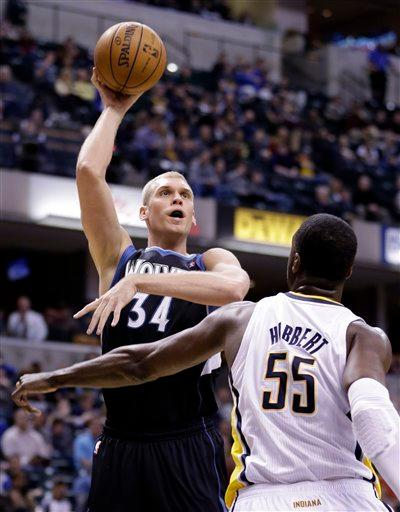 Hibbert's double-double lifts Pacers past Wolves