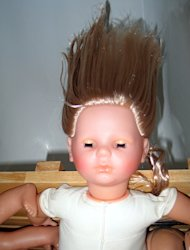 Dolls' hair often calls out to little girls