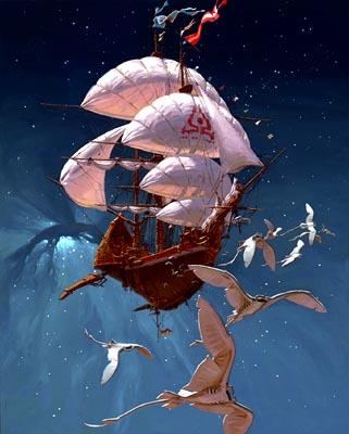 A scene from in Disney's Treasure Planet