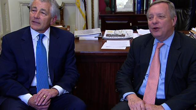 Durbin: Hagel not taking Senate confirmation for granted