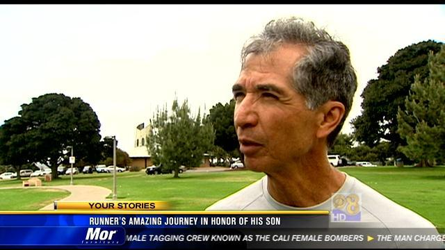 Runner's amazing journey in honor of his son