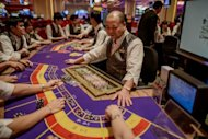 A Sands casino employee trains others in Macau on September 19. The 9,000-room Cotai Central development is Sands China's fourth casino resort in Macau, the world's biggest gambling centre and the only place in China where casino gambling is legal