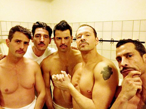 See New Kids on the Block Shirtless -- With Mustaches!