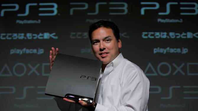 FILE - In this Aug. 19, 2009 file photo, Sony Computer Entertainment Japan President Shawn Layden displays a new PlayStation 3 during a news conference in Tokyo, Japan. Britain's Data Regulator fined Sony 250,000 pounds ($396,100) on Thursday, Jan. 24, 2013 for having insufficient security measures to prevent a 2011 cyberattack on its PlayStation Network. The attack in April 2011 targeted credit card information through Sony's PlayStation Network and put millions of users' personal information - including names, addresses, birth dates and account passwords - at risk. (AP Photo/Itsuo Inouye, File)