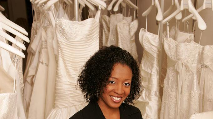 "Keasha, a bridal consultant at Kleinfeld Bridal, on ""Say Yes to the Dress."""