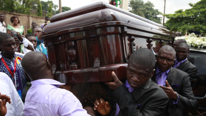 Writer Chinua Achebe honored in Nigeria funeral