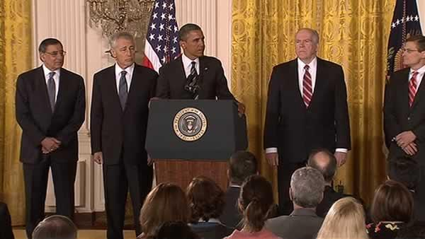 President Obama nominates Hagel, Brenner for security