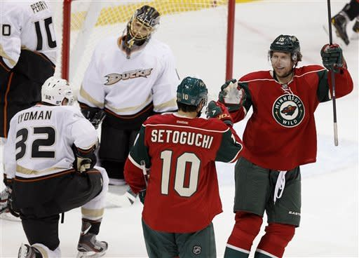 Sbisa's late goal rallies Ducks past Wild, 2-1