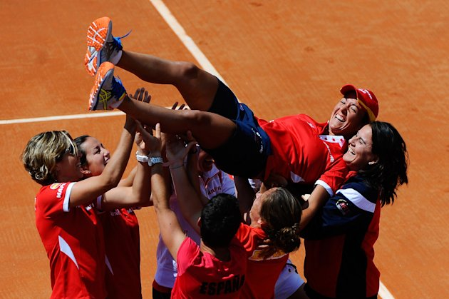 Spain v Japan - Fed Cup World Group Play Off