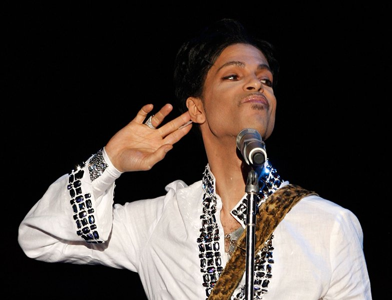 Prince at Coachella in 2008