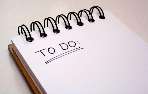 Create a daily to-do list.