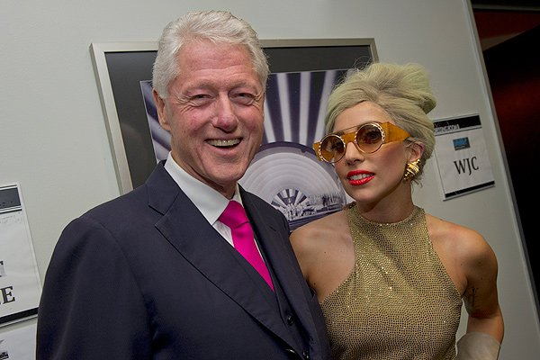 Bill Clinton and Lady Gaga (Barbara Kinney/Clinton Foundation)