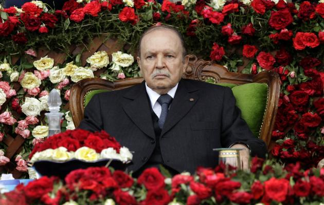 File photo shows Algeria's President and head of the Armed Forces Abdelaziz Bouteflika attending a graduation ceremony at a Military Academy in Cherchell