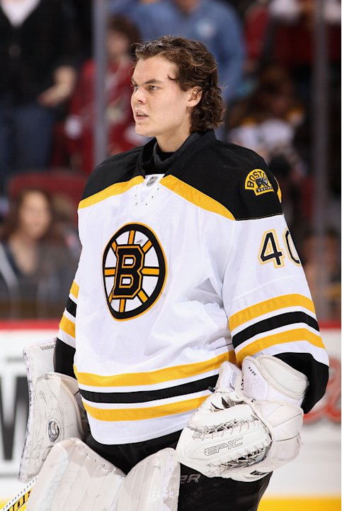 Goaltender Tuukka Rask #40 Of The Boston Bruins Stands Getty Images
