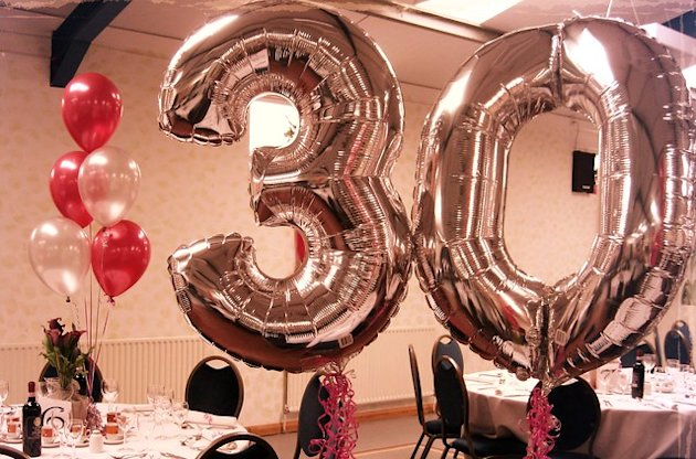 30th Balloons