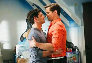 Justin Bartha and Andrew Rannells | Photo Credits: Vivian Zink/NBC