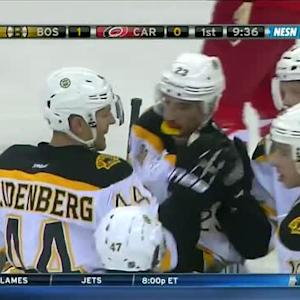 Carl Soderberg scores on the deflection