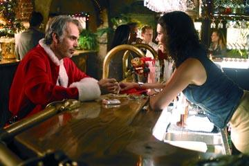 Billy Bob Thornton and Lauren Graham in Miramax's Bad Santa