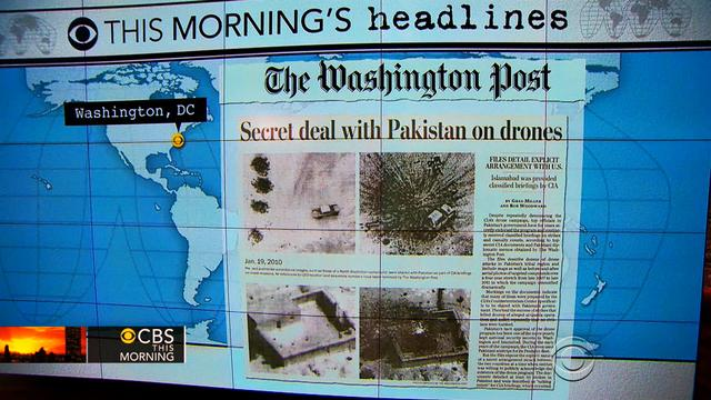 Headlines: Pakistan secretly endorsed U.S. drone program
