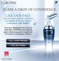 Lancome launch new Look Good…Feel Better cancer charity campaign