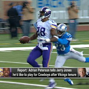 Did Minnesota Vikings running back Adrian Peterson express interest in playing for the Dallas Cowboys?