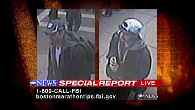 FBI reveals photos of Boston bombing suspects