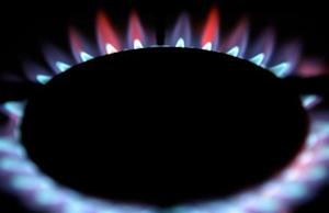 Gas burns from a ring on a domestic cooker