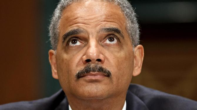 Attorney General Eric Holder testifies on Capitol Hill in Washington, Tuesday, June 12, 2012, before the Senate Judiciary Committee hearing looking into national security leaks. (AP Photo/J. Scott Applewhite)