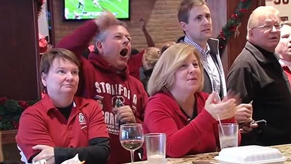 Local fans root for Stanford Rose Bowl victory