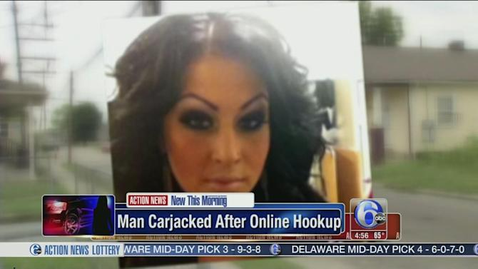Man says he was carjacked after online hook-up
