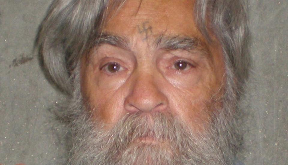 FILE - This April 4, 2012 file photo provided by the California Department of Corrections shows 77-year-old serial killer Charles Manson Wednesday, April 4, 2012. Manson will have an April 11, 2012 parole hearing in California. (AP Photos/California Department of Corrections, File)