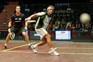 quarter final match at the 2011 Australian Open squash tournament