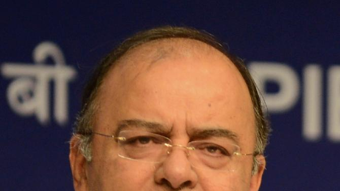 Indian Finance Minister Arun Jaitley, pictured during a press conference in New Delhi, on August 30, 2014