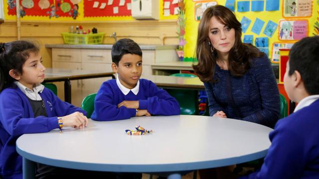 Kate Middleton Looks Gorgeous While Helping Save Children's Lives -- All in a Day's Work!