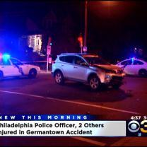 Philadelphia Police Officer Injured In Germantown Crash